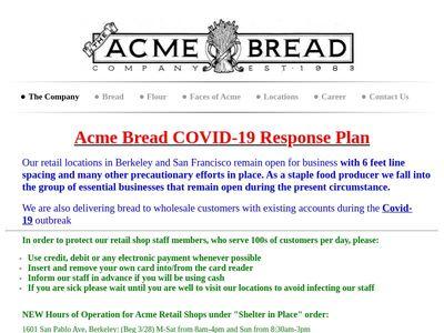 The Acme Bread Company