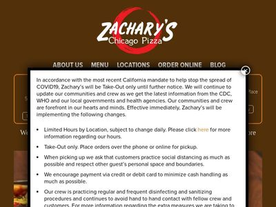 Zachary's Chicago Pizza, Inc.