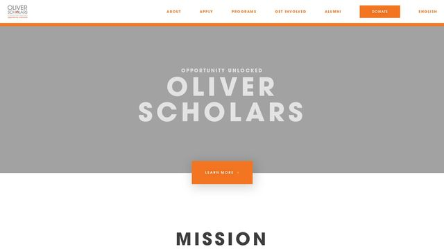 Oliver Scholars