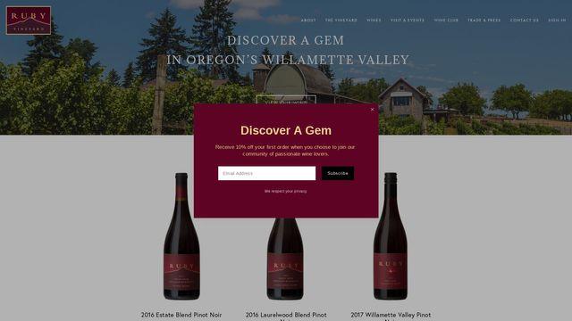 Ruby Vineyard & Winery