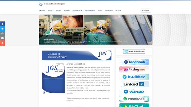 Journal Of Gastric Surgery