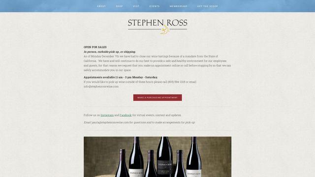 Stephen Ross Wine Cellars