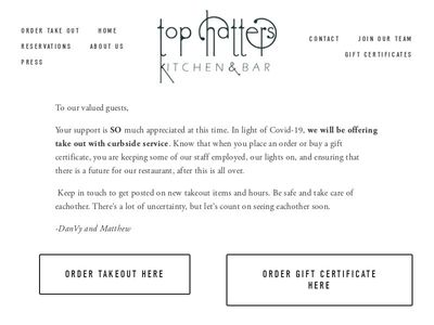 Top Hatters Kitchen & Bar