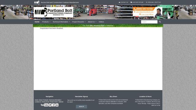 Portland Bolt & Manufacturing Company, Inc.