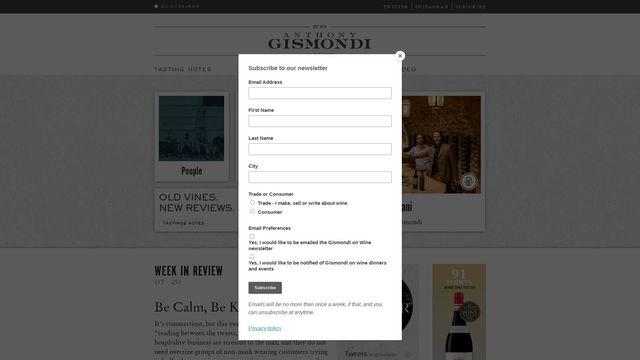 Gismondi On Wine Ltd.