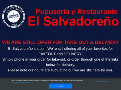 El Salvadoreno Pupuseria Y Restaurante Duarte