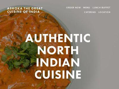 ASHOKA THE GREAT CUISINE OF INDIA