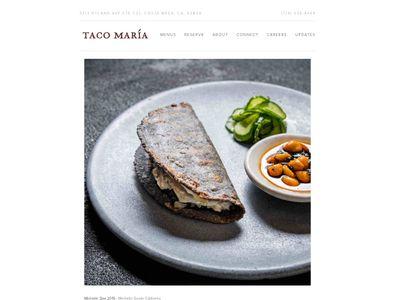 Taco Maria