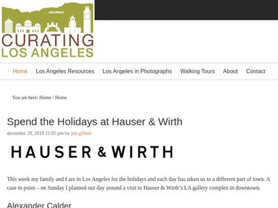 Curating Los Angeles