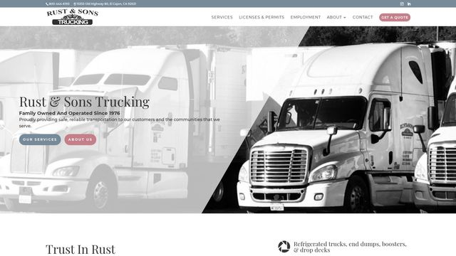 Rust and Sons Trucking, Inc.