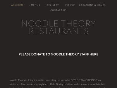 Noodle Theory