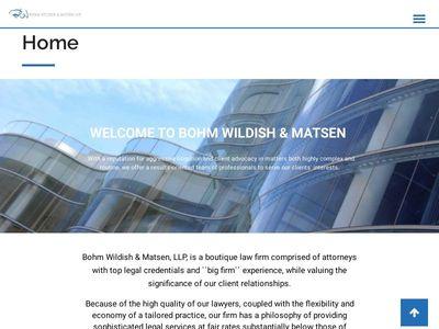 Bohm Wildish & Matsen, LLP