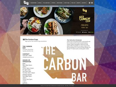 The Carbon BarTM & Restaurant