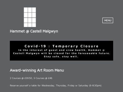 Hammet @ Castell Malgwyn