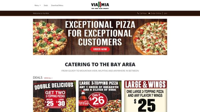Via Mia Pizza® Official Site
