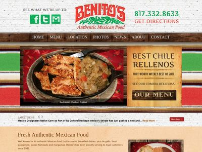 Benitos Real Authentic Mexican Food Fort Worth, Texas
