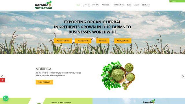 Aarohie Nutri-Food: Organic Ingredients | 100% Traceability