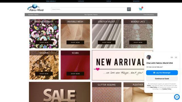 Fabrics World USA   Online Fabric Store