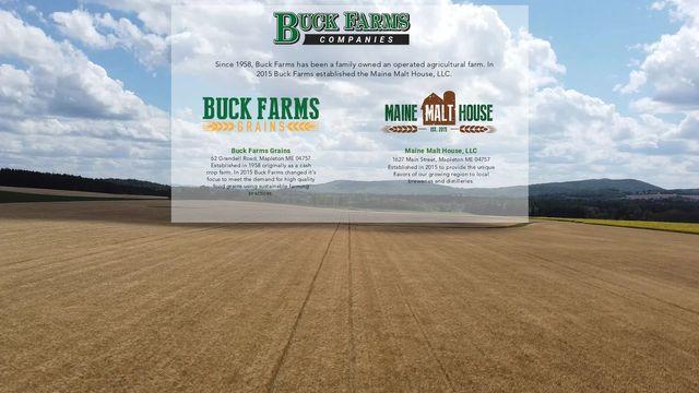 Buck Farms and Maine Malt House, LLC