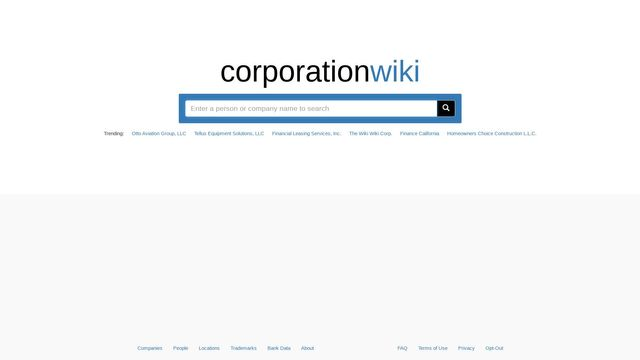 Corporation Wiki by Sagewire Research LLC