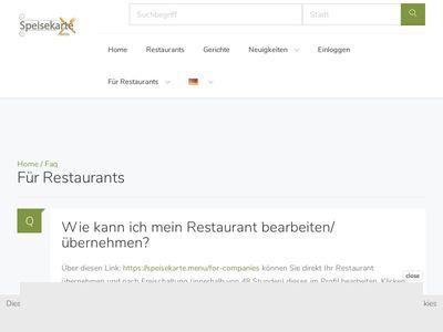 Speisekarte.menu - Deine Speisekarte Online