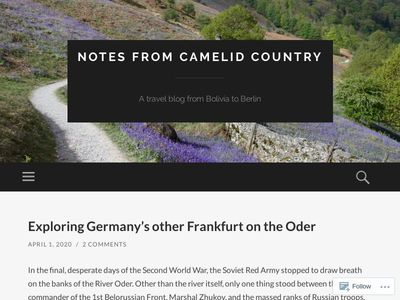 Notes from Camelid Country