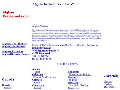 La Table Afghane