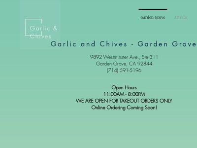 Garlic & Chives