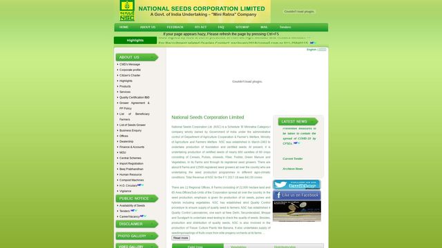 National Seeds Corporations LTD