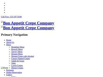 Bon Appetit Crepe Company