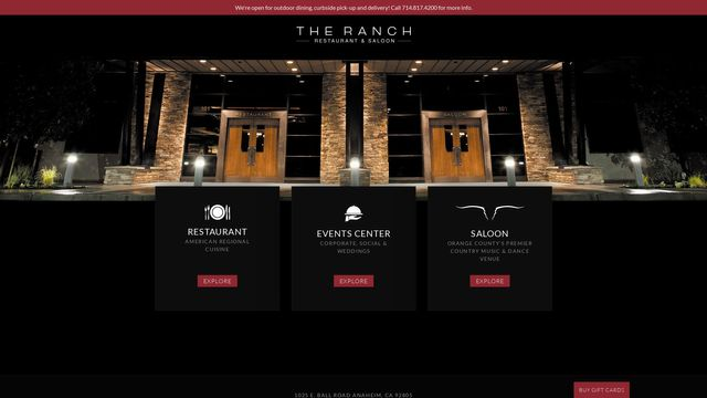 THE RANCH Restaurant & Saloon, Inc.