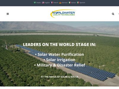 WorldWater & Solar Technologies, Inc.