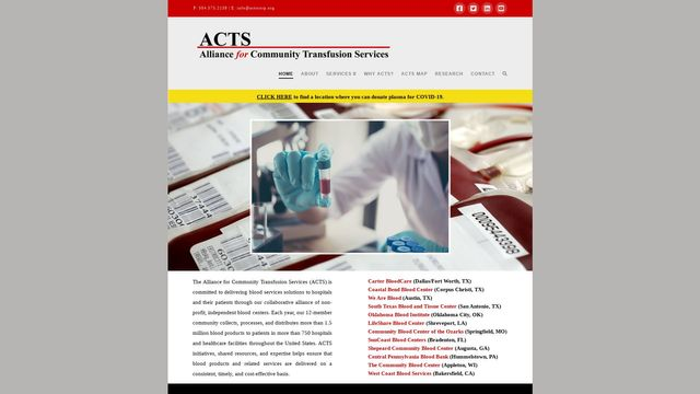 Alliance for Community Transfusion Services, LLC
