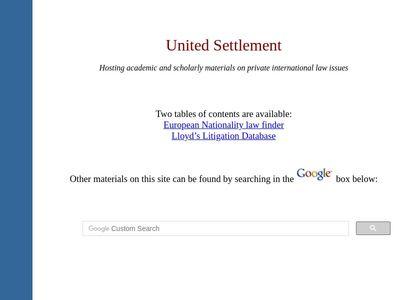 United Settlement Co.