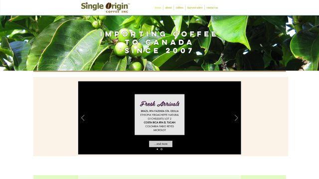 Single Origin Coffee Inc.