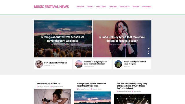 Music Festival News