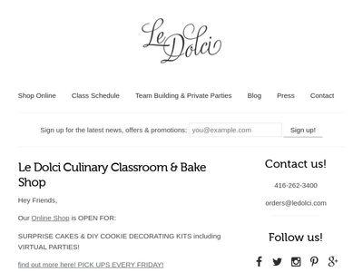 Le Dolci Bakeshop & Culinary Classroom