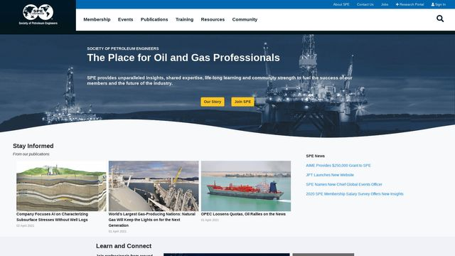 Society of Petroleum Engineers (SPE), Inc.