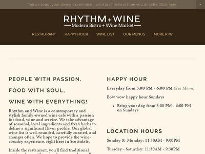 RHYTHM + WINE
