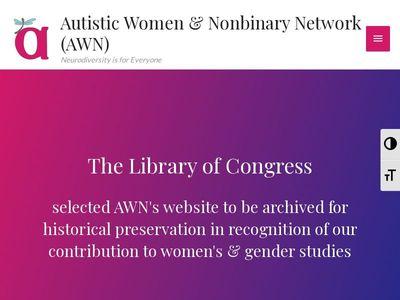 Autistic Women & Nonbinary Network, Inc.