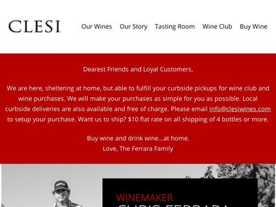 Clesi Wines | Italian Wines Crafted on the Central Coast
