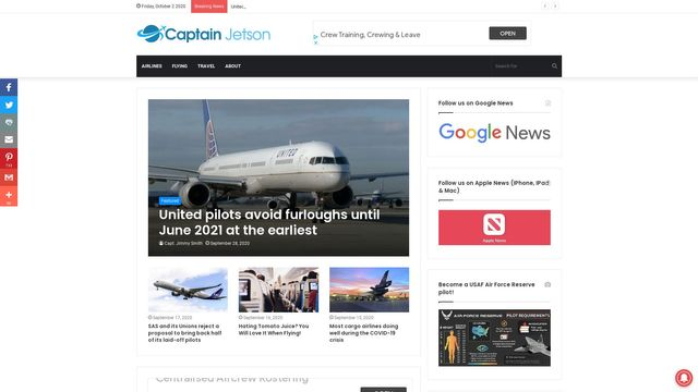 Captain Jetson Aviation and Travel News