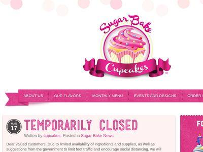 Sugar Bake Cupcakes.