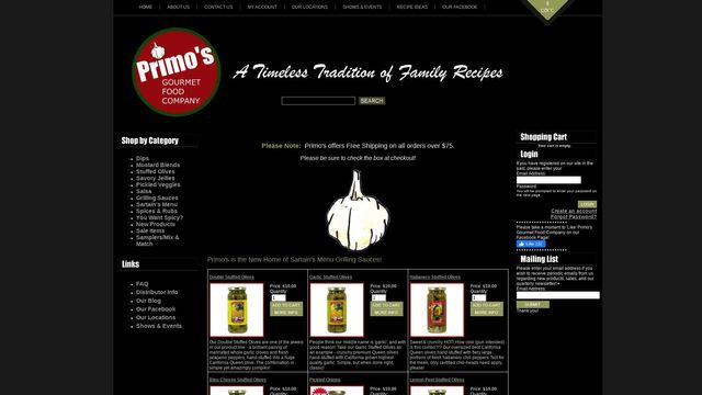 Primo's Gourmet Food Company