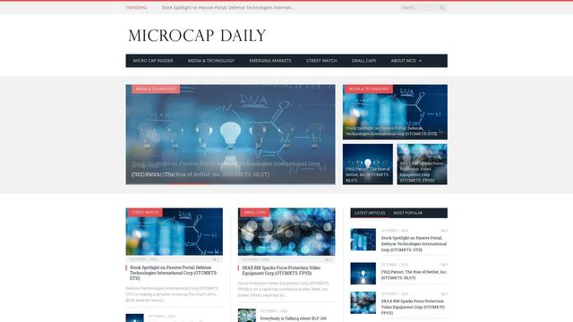 Micro Cap Daily   Microcap and small cap company news
