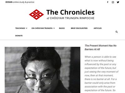 The Chronicles of Chögyam Trungpa Rinpoche