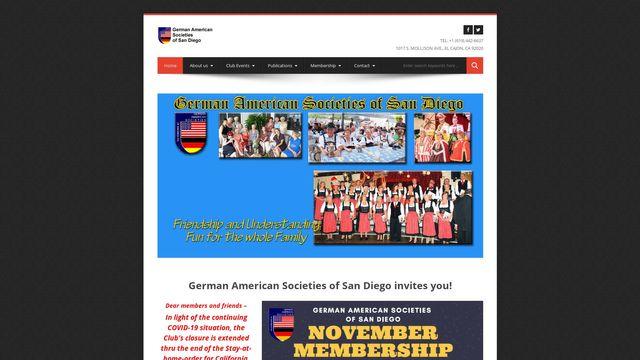German American Societies of San Diego, Inc.