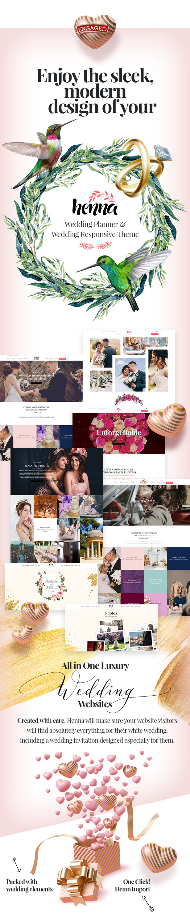 Henna - Wedding WordPress Theme - 1