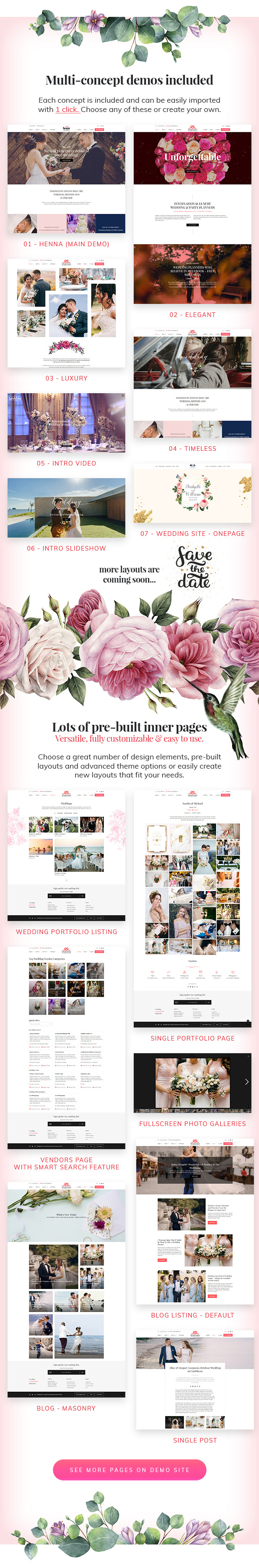 Henna - Wedding WordPress Theme - 3
