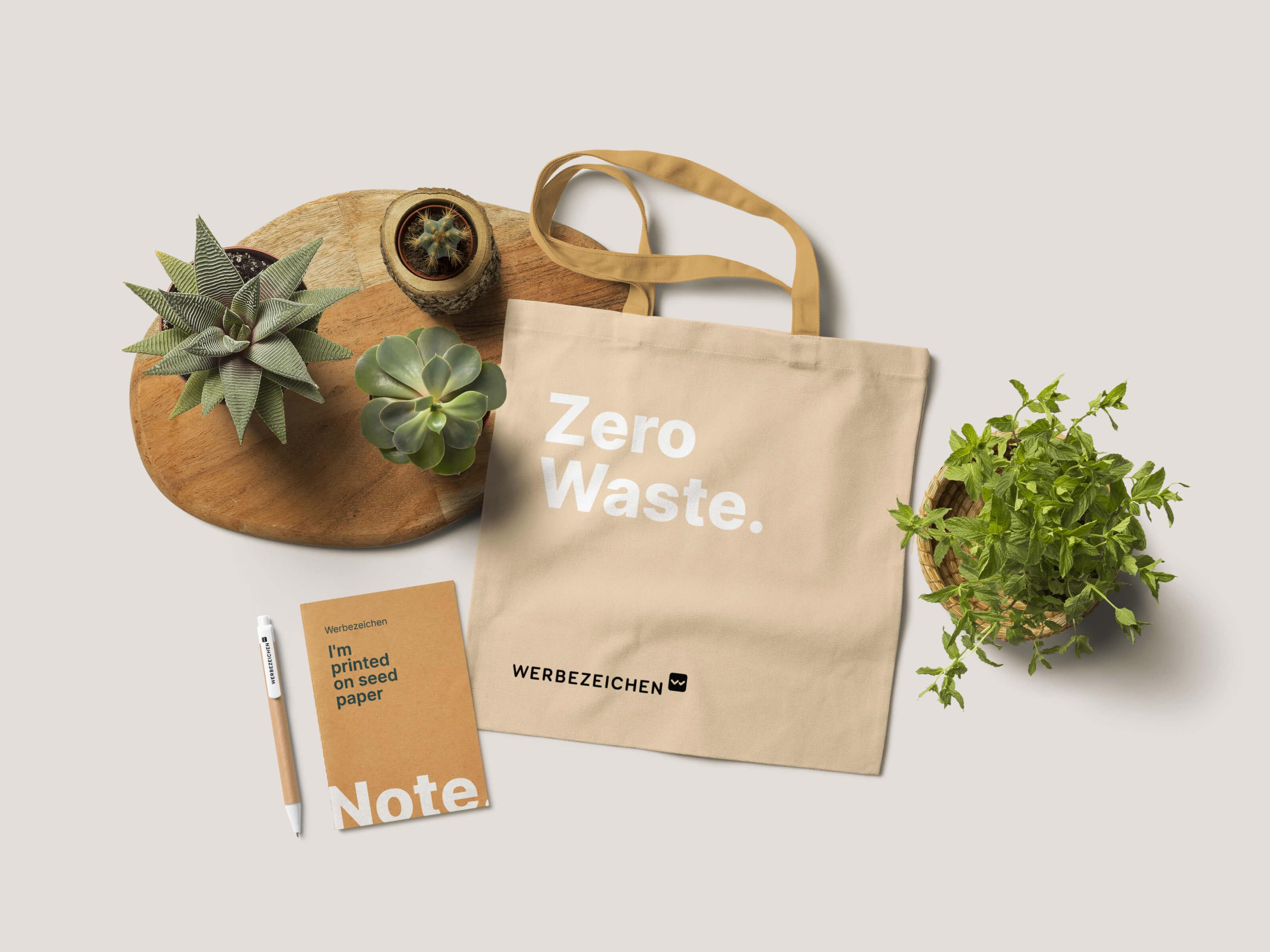 Werbezeichen - Nachhaltige Werbeartikel
